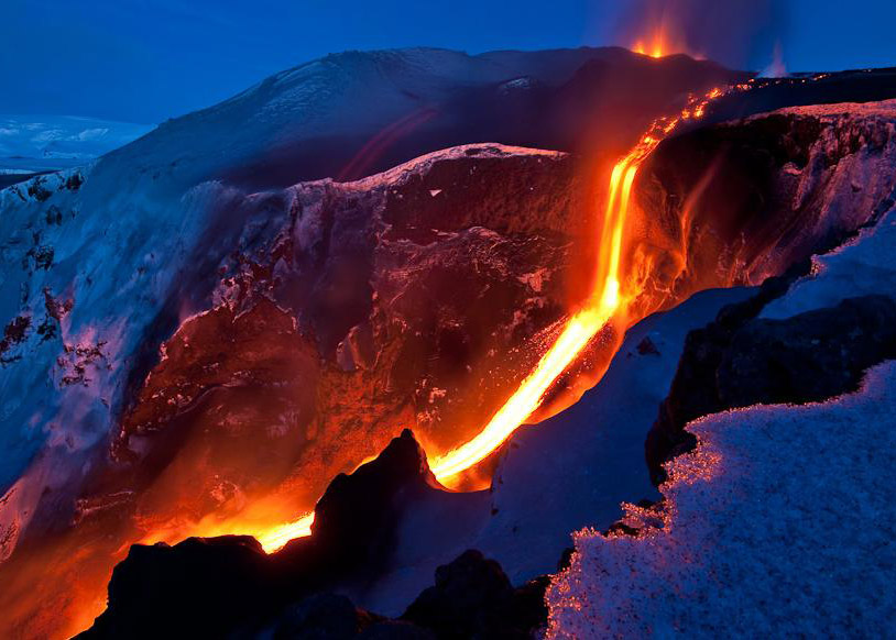 Iceland Volcano and Ice