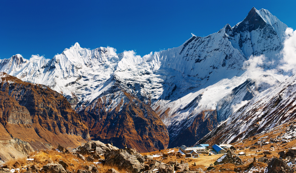 mount machhapuchhre and annapurna base camp nepal 1
