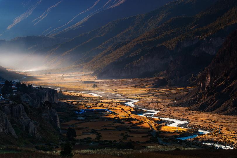 Природа река Непал горы 1237719
