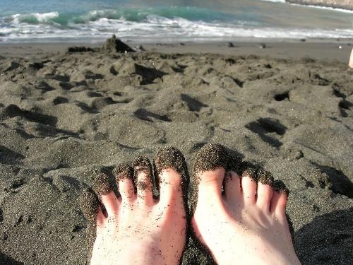 Вулканічний пляж на острові Тенеріфе (Канари)