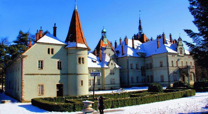 Замок Шенборнов зима