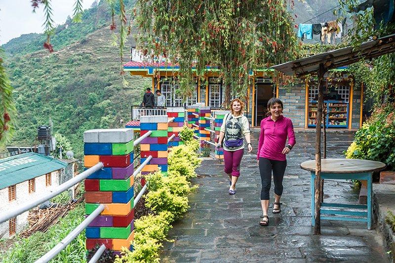 Лоджія на треку до базового табору Анапурни (Непал)